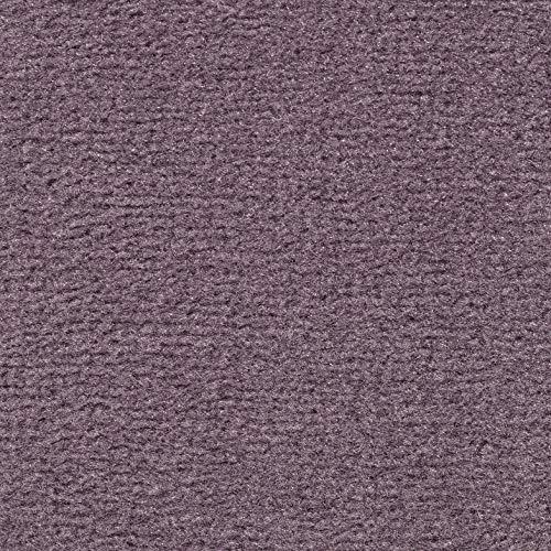 Teppichboden Velours Kurzflor in Flieder | weiche & strapazierfähige Auslegeware | zugeschnittener Bodenbelag | Teppich Langflor in der Größe 100x400 cm | gemütliche Teppichfliesen