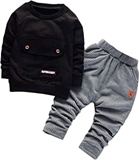 Ancia 2017 Baby Boys Kids 2 Pieces Fall Clothing Set T-Shirt Pants Outfits