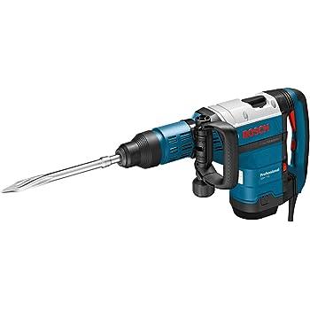 Bosch Professional 0611322000 Marteau-piqueur GSH 7 VC (Poignée Supplémentaire, Burin Pointu, Tube de Graisse, dans Coffret) Bleu