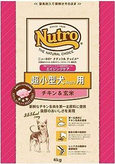 ニュートロジャパン ナチュラルチョイス [超小型4kg以下用] 7歳以上エイジングケア チキン&玄米 4kg