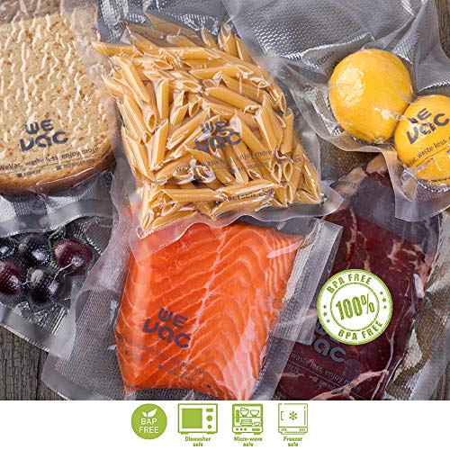 Wevac Vacuum Sealer Bags 100 Gallon 11x16 Inch for Food Saver, Seal a Meal, Weston. Commercial Grade, BPA Free, Heavy Duty, Great for vac storage, Meal Prep and Sous Vide