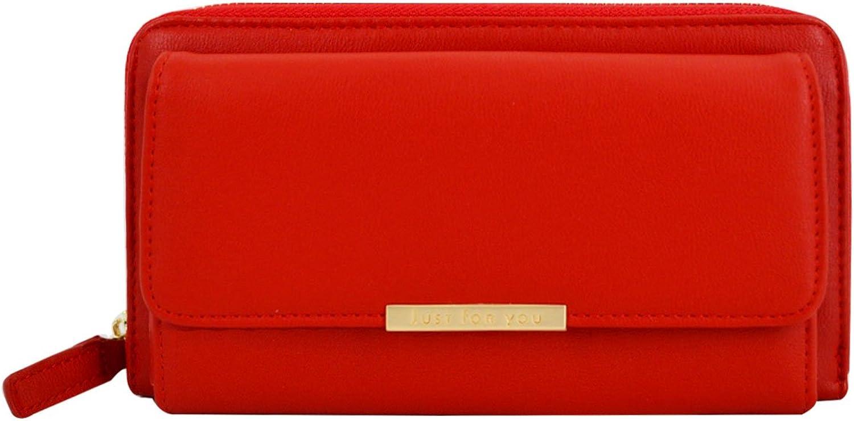 Heidi Bag Women PU Long Clutch Purse Cell Phone Wallet Purse Card Holder Zipper Large Capacity Pocket