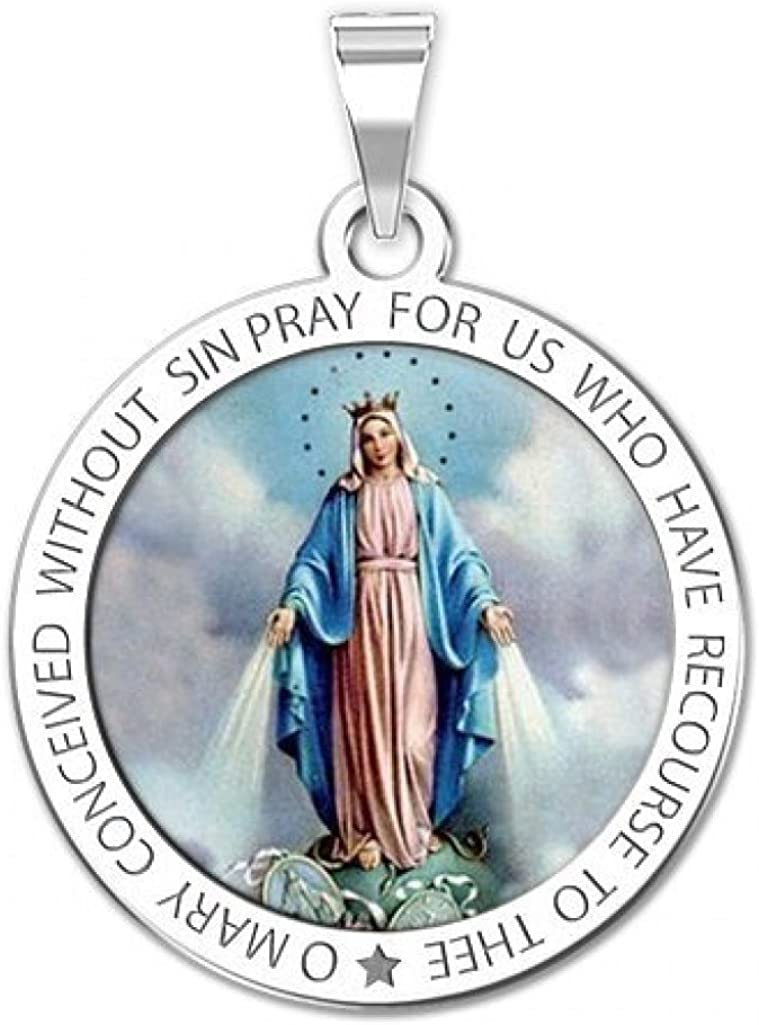 PicturesOnGold.com Miraculous Medal Branded goods Round Color S - Sale Available in