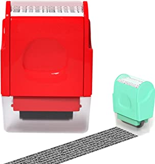 Outgeek Identity Theft Protection Roller Stamp Portable Creative Security Roller Stamp
