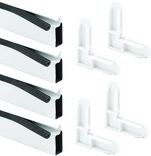 Prime-Line Products PL 7823 Screen Frame Kit, 3/8 in. x 3/4 in. x 60 in. x 60 in., Aluminum Frame, White