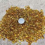 WEILAI Piedra de cristal de color amarillo limón natural, piedra mineral, espécimen de plantación de peces, decoración de acuario