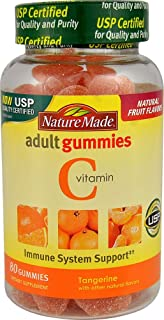 Nature Made Vitamin C Adult Gummies, Tangerine 80 ea (Pack of 4)