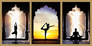 Culturenik Yoga Poses Asanas Exercise India Inspirational Motivational Spiritual Poster Print, Rolled 12 by 24