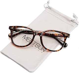 MEETSUN Blue Light Blocking Glasses for Women Men Nerd Eyeglasses Frame,Anti Eye Strain Computer Glasses for Reading/Gaming