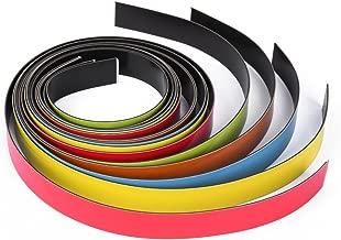 Cinta magnética, tiras magnéticas de colores surtidos, 5 x 1 metro, 20 mm de ancho, fácil de cortar al tamaño deseado