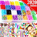 FunzBo Loom Bands Bracelet Making Kit - Rubber Bands Maker Refill Kits Set 10 in 1 Super 11900+ Rainbow Rubberband - DIY Crafting Craft Art Bracelets Accessories Gift for Kids Age 5 6 7