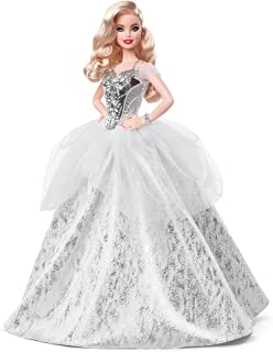 Barbie Signature 2021 Holiday Doll (12-inch, Blonde Wavy...