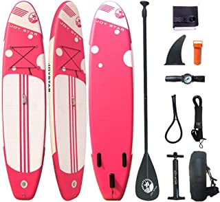 JOYSTAR Inflatable Stand Up Paddle Boards 11ft Surf Control with Premium SUP Adjustable Paddle, Waterproof Bag, Leash, Paddle and Hand Pump for Paddling, Surf Control Youth & Adult Standing Boat