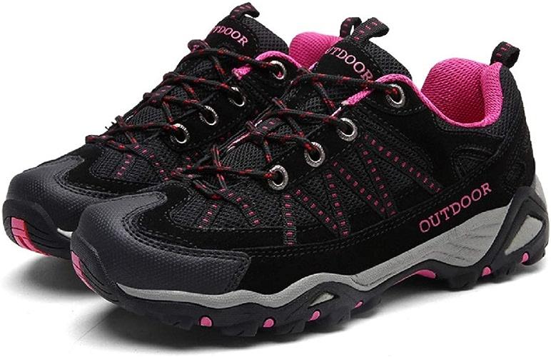 Sports de Plein air pour Hommes, Chaussures de randonnée, Cuir antidérapant, Outillage en Cuir Mat, Plateforme (Couleuré   comme montré2, Taille   EU 44)