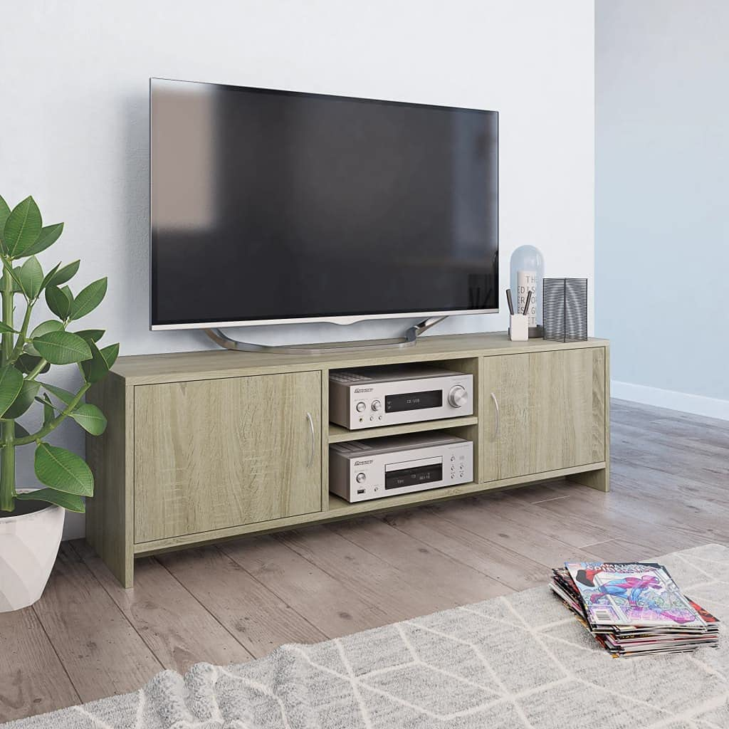 TV Stand Media Entertainment Center Miami Mall New product! New type Console Cabinet Doors with