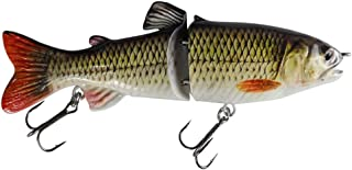 """kachawoo Glide Swimbait Two Section S"""" Curve Swimming 7"""" 65g Jointed Fishing Lures Hunter for Bass Pike Muskie with Treble Hooks Tackle"""