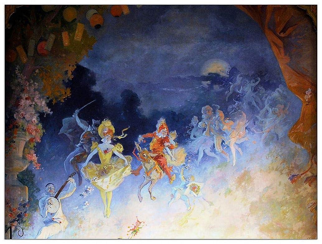 ArtPlaza TW91630 Cheret - Musee Grevin Decorative Panel 35.5x27.5 Inch Multicolored