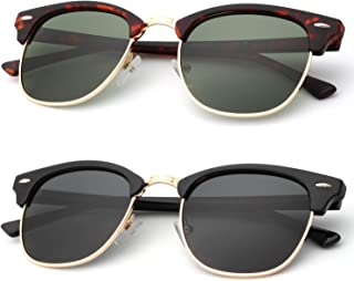 Unisex Polarized Sunglasses Stylish Sun Glasses for Men and Women Color Mirror Lens Multi Pack Options