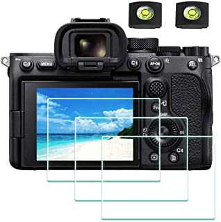 A7SIII Screen Protector Appliable for Sony Alpha A7S III Digital Camera & Hot Shoe Cover, ULBTER 0.3mm 9H Hardness Tempere...