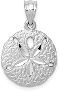 14k White Gold Snowflake Pendant from Roy Rose Jewelry