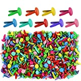 Yexpress 400 Pieces 8 x 12mm Assorted Bright Color Mini Brads Round Paper Fasteners Brass Pastel Metal Brads for Scrapbooking Crafts DIY Paper