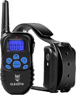 GLEADING Collier de Dressage pour Chien, Collier Électrique CDFP9 avec Telecommande de 500 Mètres avec Mode de Vibration, ...