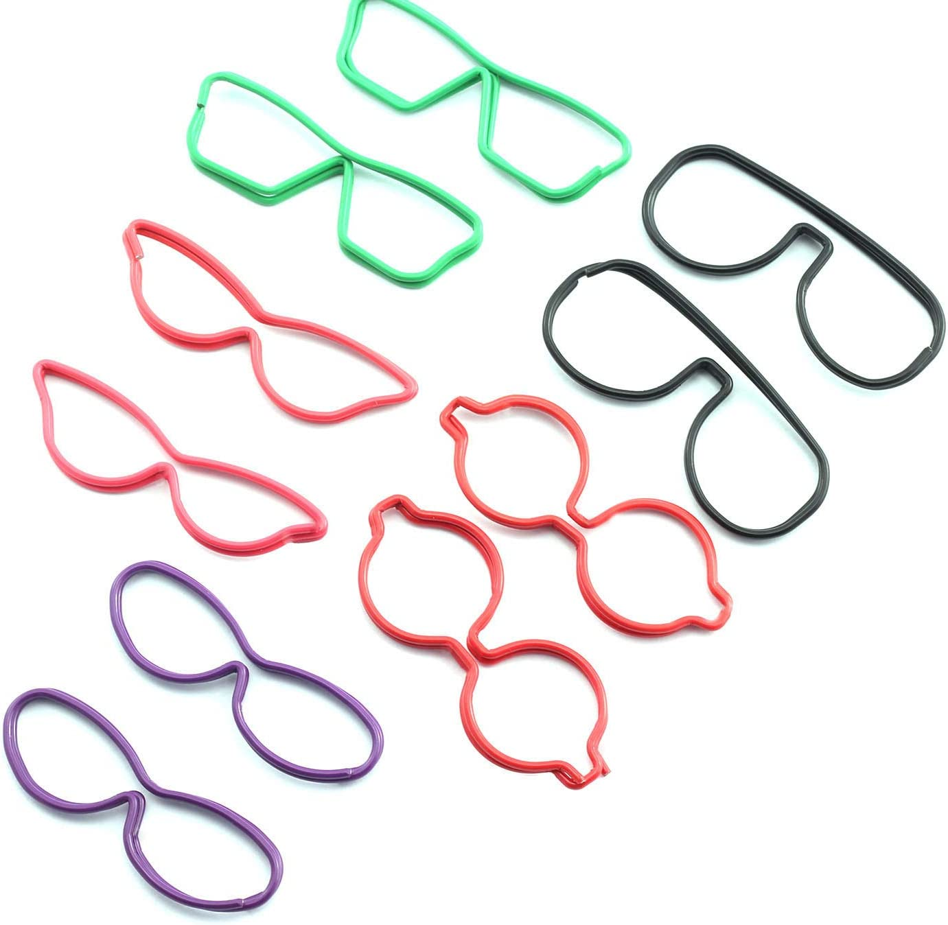 RuiLing 30PCS Glasses Shape Paper Max 54% OFF Challenge the lowest price of Japan Metal Binder Wire Multi-P Clip