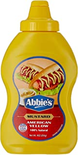 Abbie's Squeeze Yellow Mustard, 255g, Pack of 1 Product of USA