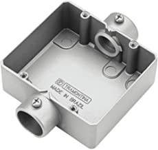 Caixa de Derivação Dupla Sem Rosca Tipo CD 3/4'' - 56111012 - TRAMONTINA - Caixa de Derivação Dupla Sem Rosca Tipo CD 3/...