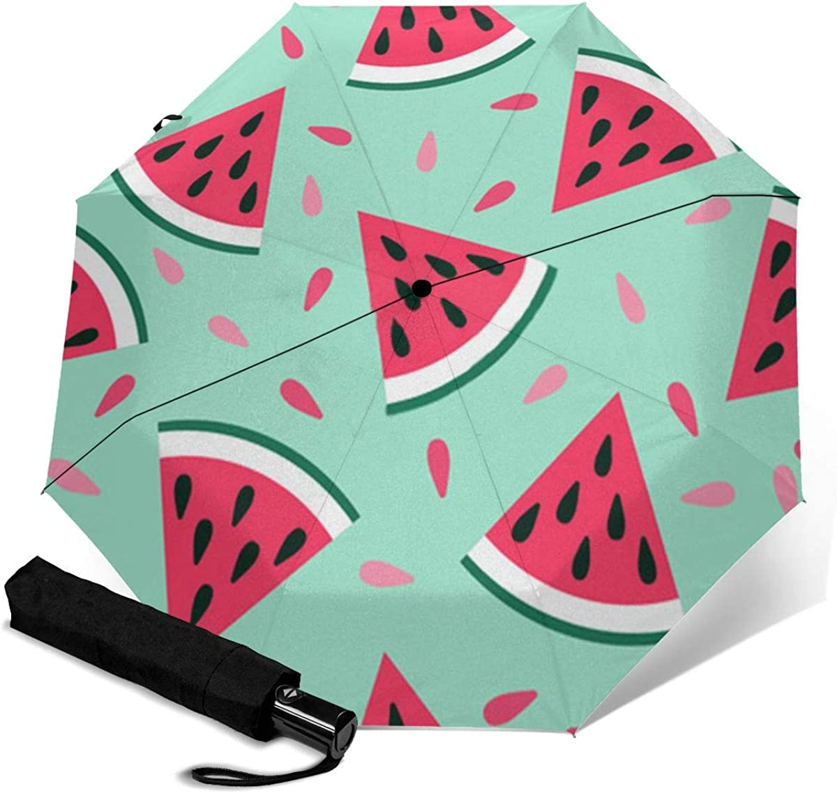 Fruit with 55% OFF A Lovely Watermelon Color-Cha Auto rain Umbrellas Max 85% OFF for