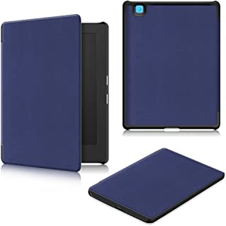 Kepuch Custer Funda para Kobo Aura H2O Edition 2,Slim Smart Cover Fundas Carcasa Case Protectora de PU-Cuero para Kobo Aura H2O Edition 2 - Azul
