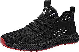 MODOQO Mens Shoes Lace-up Casual Solid for Outdoor Sports Walking Running
