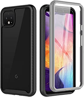 Google Pixel 4 Case (2019 Release), BESINPO Full-Body Protection Built-in Screen Protector Shockproof Dustproof Clear Back Cover Anti-Scratch Bumper Case Compatible with Google Pixel 4