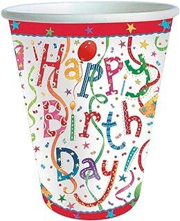 Caspari Happy Birthday 9-Ounce Paper Cup