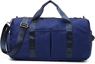WSLCN Sports Travel Duffel Bag with Wet Pocket & Shoes Compartment Water Resistant Luggage Packable Weekender Bag for Wome...