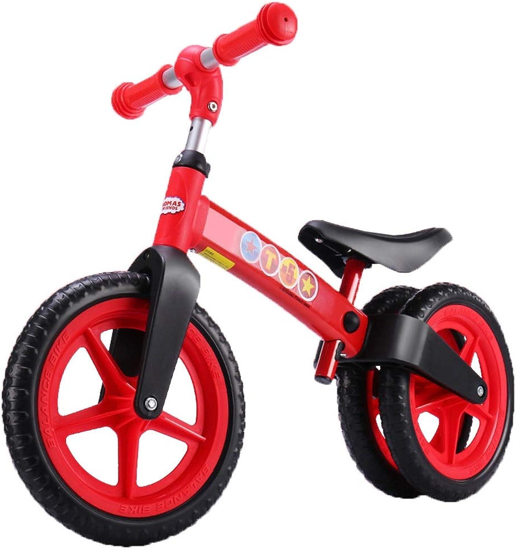 Nuevos productos de artículos novedosos. Equilibrio Bicicleta sin sin sin Pedales Bicicleta de Doble Rueda Trasera para Niños, de 2 a 5 años de Edad, para el cumpleaños y el Primer Regalo ( Color   rojo )  Envio gratis en todas las ordenes