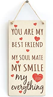 Meijiafei You are My Best Friend My Soul Mate My Smile My Everything - Cute Little Shabby Chic Gift Sign for Boyfriend/Girlfriend 10