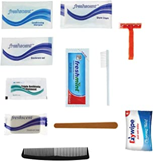 96 Kits - 12 Piece Basic Bulk Hygiene Kits for Men, Women, Travel, Charity - Wholesale Hotel Toiletries