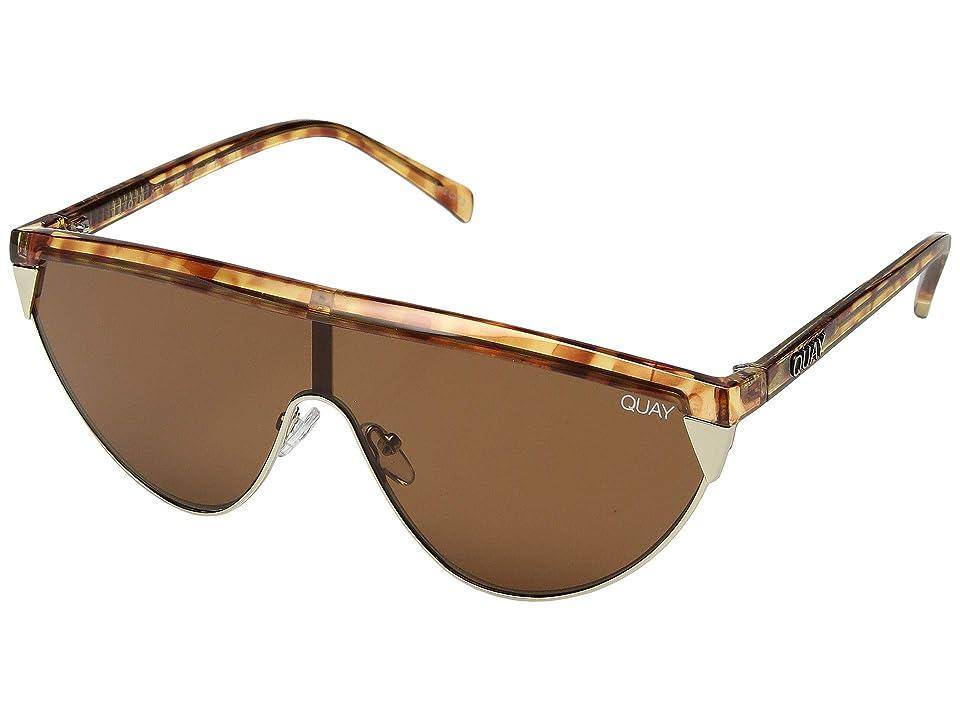 QUAY AUSTRALIA Goldie (Orange Tortoise/Brown) Fashion Sunglasses