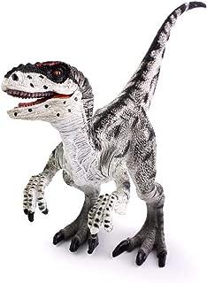 Kolobok Dinosaur Toys Park - Dino World Model - Jurassic Action Figures - Velociraptor Great Predator – Black and White