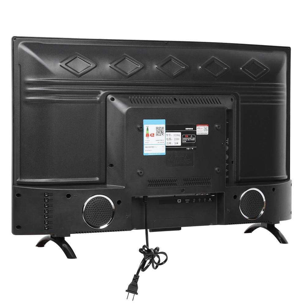 ASHATA 43 Pulgadas HDMI TV de Curvo de Pantalla Grande, 1920x1200 HD 3000R Curvature Smart Television Soporte Inteligencia Artificial Voz, TV Versión 110V(UE): Amazon.es: Electrónica