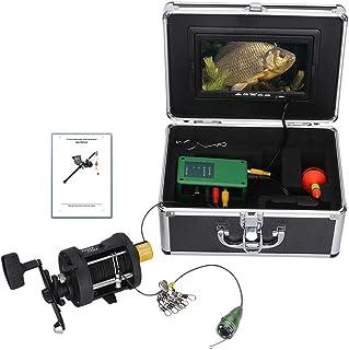 Fish Finders Buscador de Pescado de 7 Pulgadas, para Pesca en Hielo Rueda de Pesca en mar, Lámpara LED infrarroja de 6W Cá...