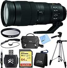 Nikon AF-S FX Full Frame NIKKOR 200-500mm f/5.6E ED Zoom Lens Bundle with Tripod, 64GB SDXC Memory Card, 95mm UV Filter, Deluxe Bag and (6 Items)