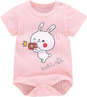 Mameluco y Mono para niños, Mono de Mameluco con Estampado Animal de Dibujos Animados de Manga Corta para bebés recién Nac...