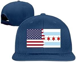 BQL34AA American Chicago Flag Men/Women Baseball Caps, Adult Flat Bill Trucker Caps