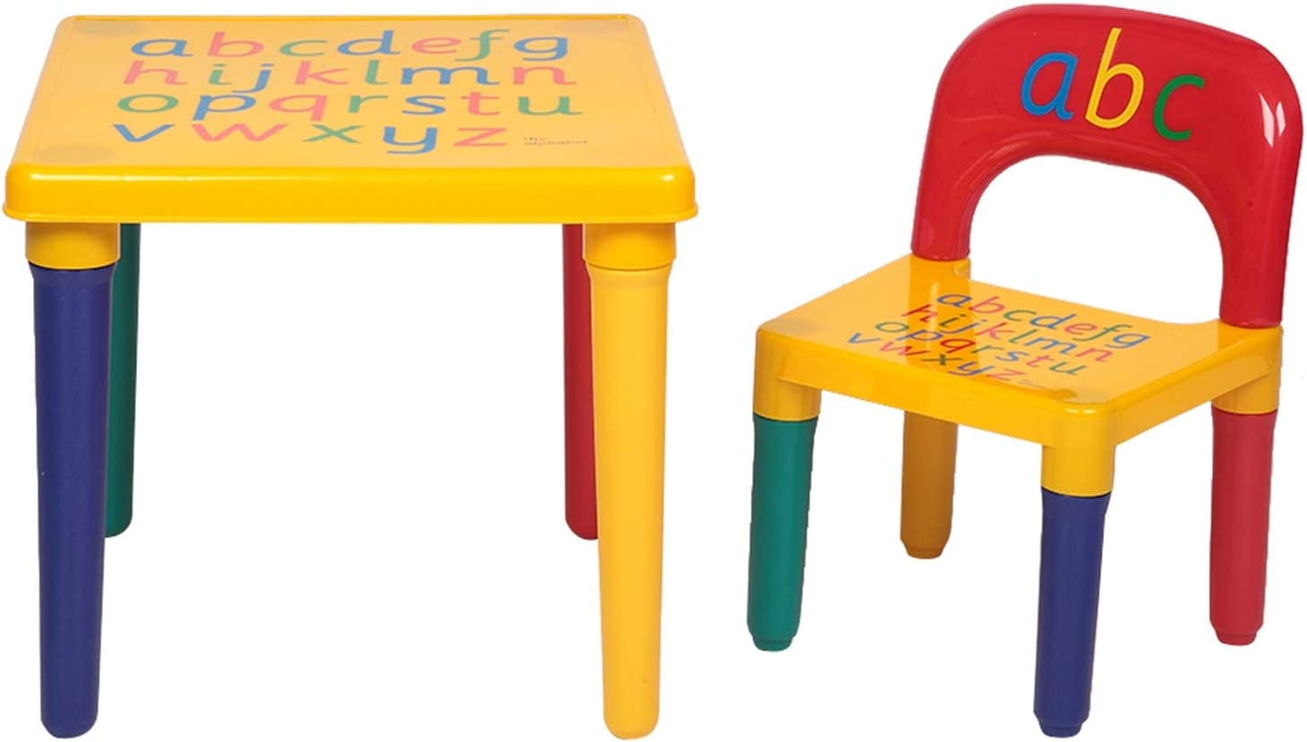 Cheap sale Bysesion GT1-JL Children Phoenix Mall Letter Table Chair Red Yellow Set