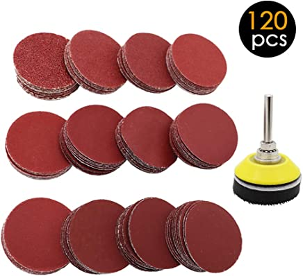 Max Speed 20,000Rpm Fine Medium Coarse Pads Resin Fibre Disc R-Type Tougs 33 PCS 2 Inch Quick Change Discs Surface Conditioning Discs Mix Roll Lock Sanding