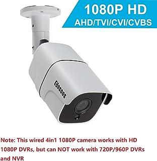 Cámara de Seguridad de Bala 1080P 2.0MP HD cámara de vigilancia de CCTV Interior/Exterior Impermeable/a Prueba de Polvo a Prueba de Polvo híbrida 4-en-1 AHD/TVI/CVI / 960H de COSOOS