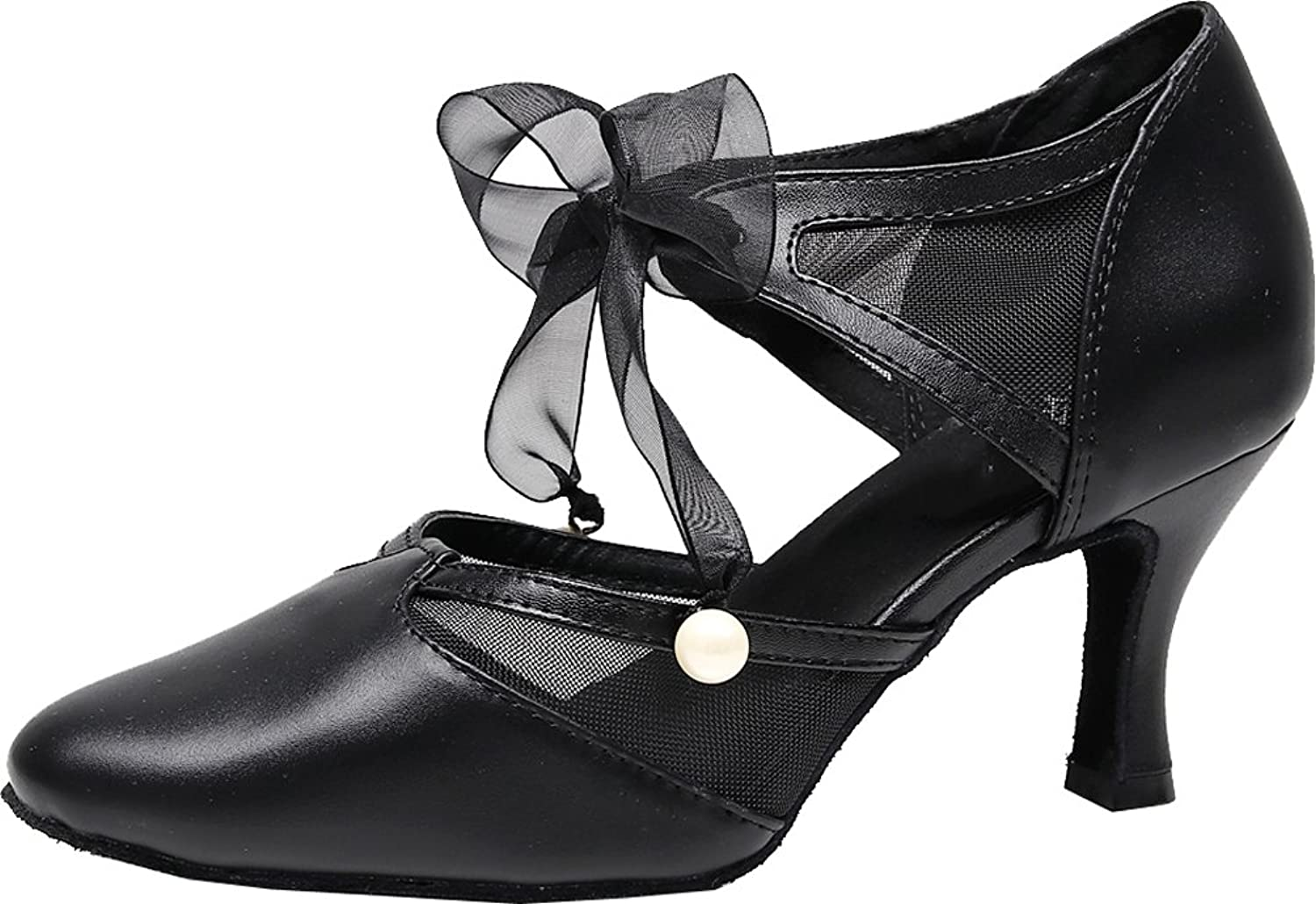 ABBY Products 7131 Latin Dance shoes for Women Tango Ballroom Ankle Straps Pointed Toe