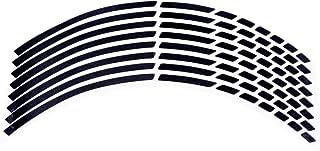 LIOOBO Cinta Adhesiva de la Etiqueta de la Raya de la llanta Reflectante para Ruedas de automóviles de Motocicleta (Negro)
